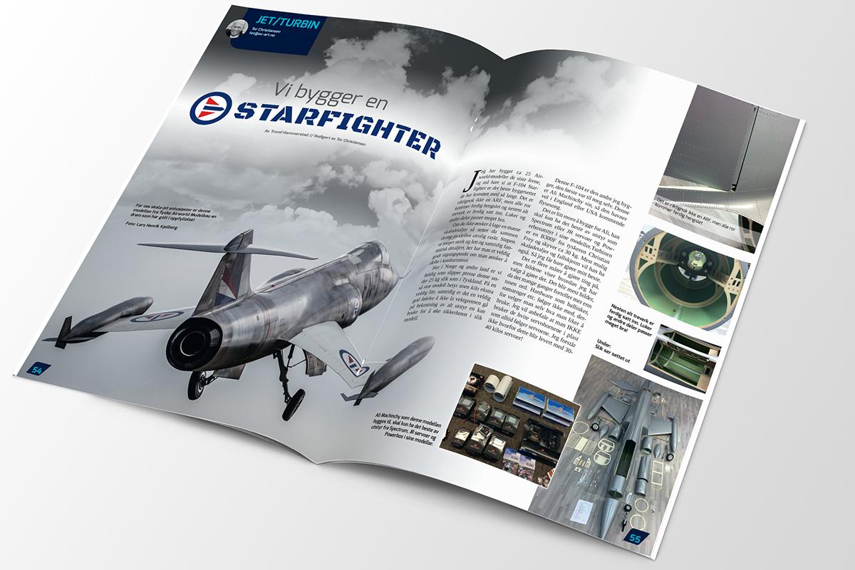 Kudos media design magasin NLF modellfly