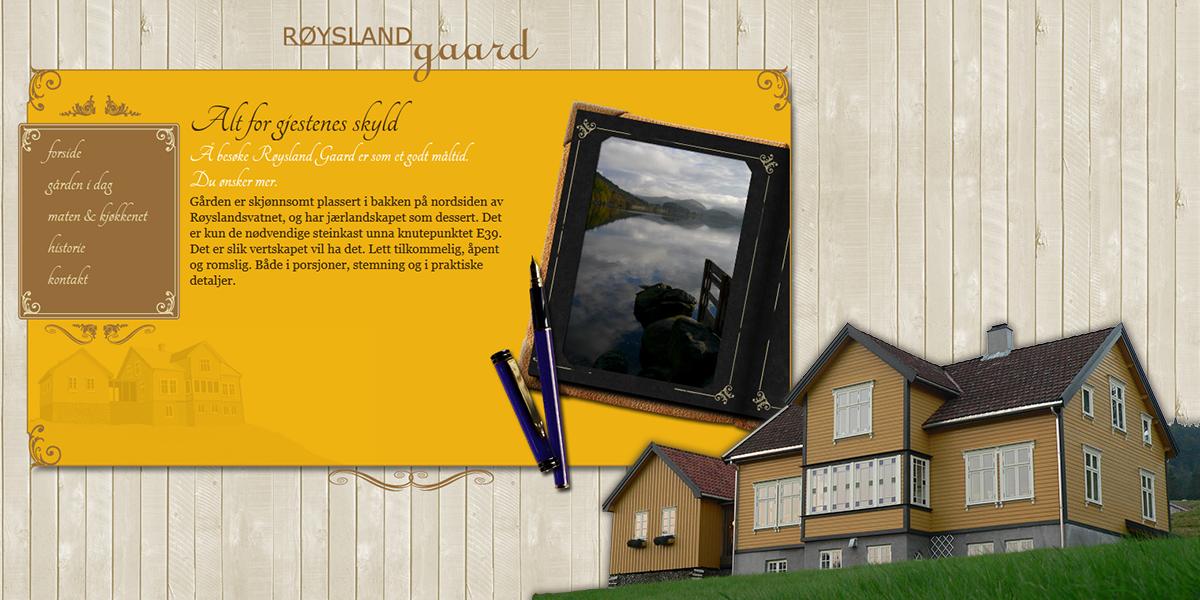 Røysland Gaard websider og profil av Kudos media