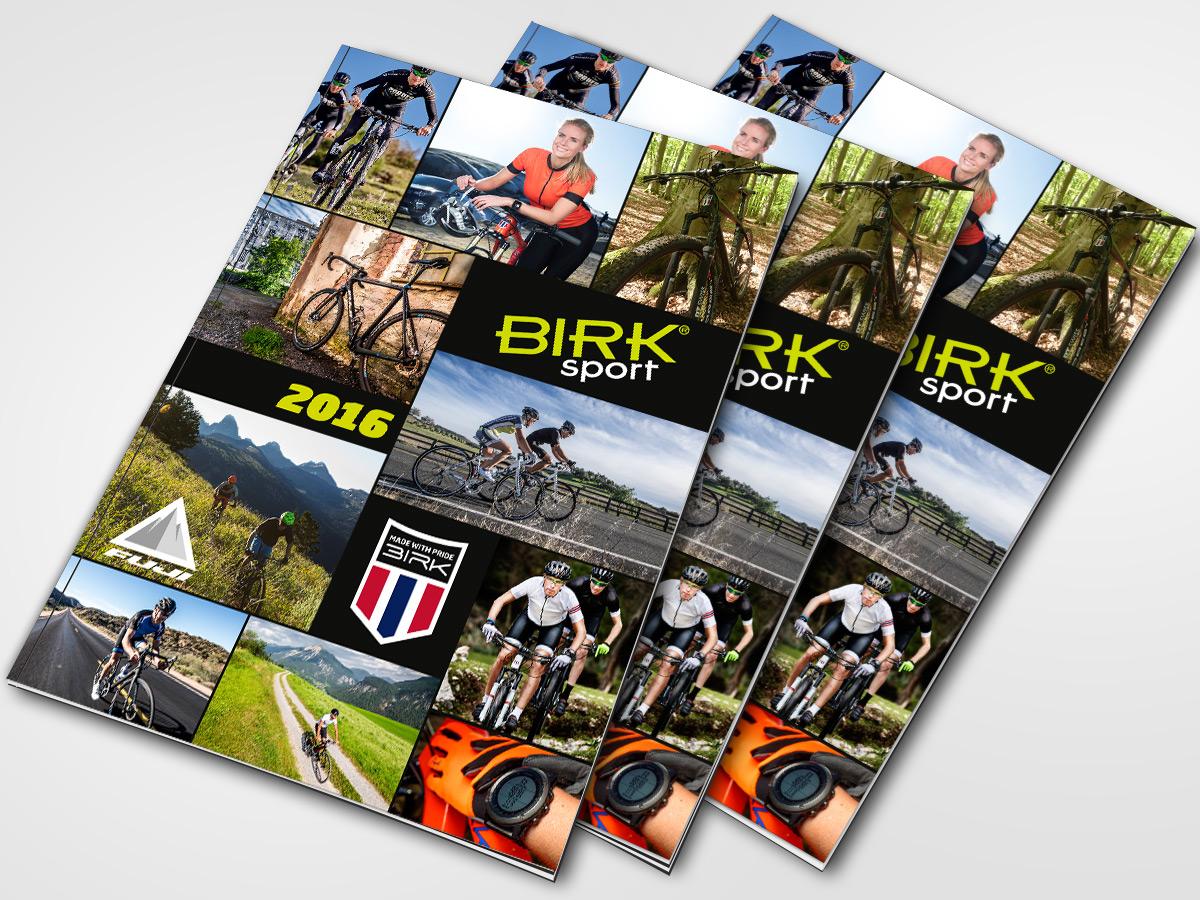 Katalog for Birk Sport laget av Kudos media
