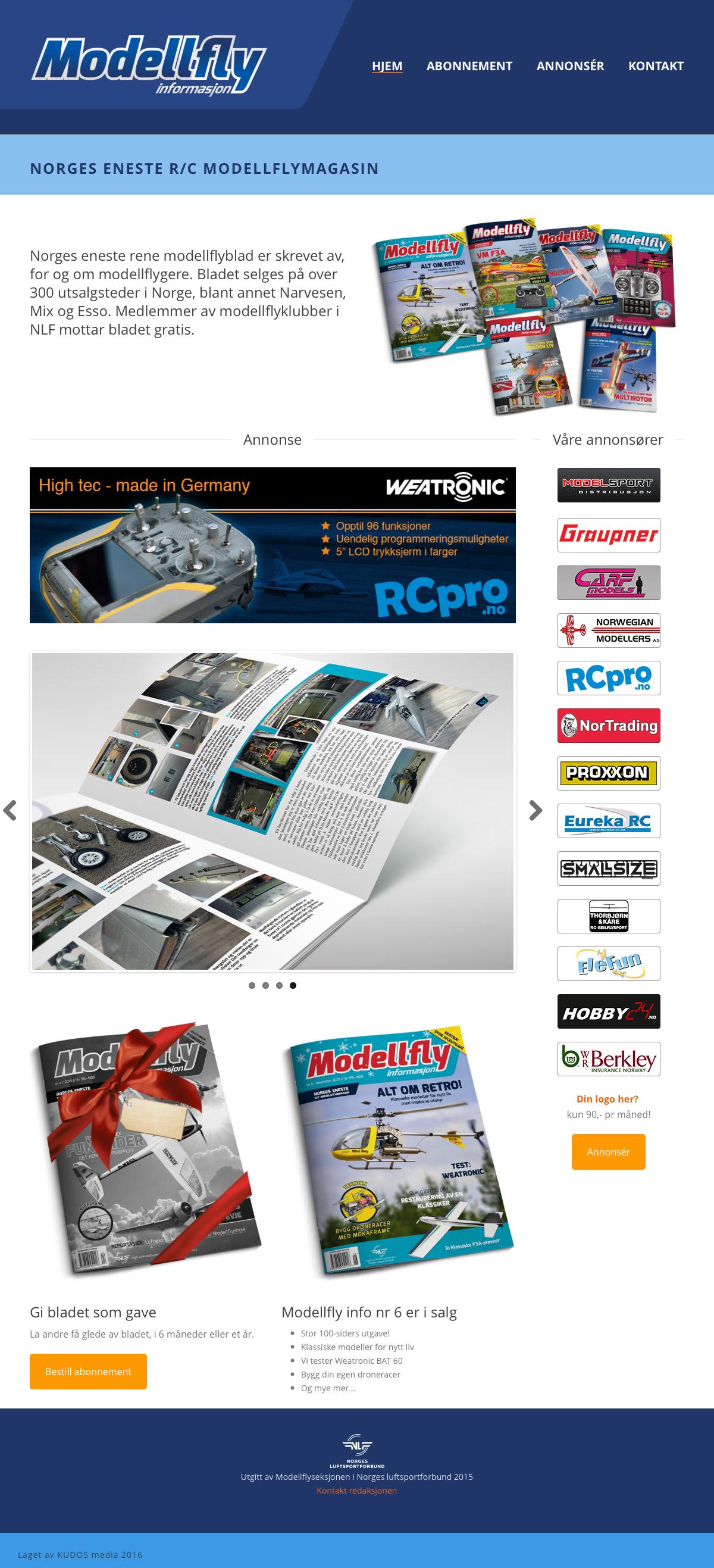 modellfly informasjon webside kudos media